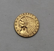 Zlatý 2 a 1/2 Dollar 1912 - Indian Head